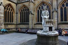 Drinking fountain in Bath (Eddie Crutchley) Tags: europe england bath outdoor streetview sculpture fountain art