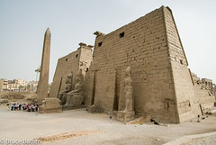 090504 Luxor Temple-01.jpg (Bruce Batten) Tags: monumentssculpture trees locations trips occasions subjects egypt businessresearchtrips plants people luxor eg