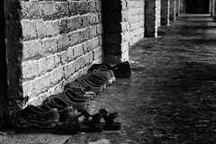 20160719-_GEP0071B&W (Gary Ellis Photography) Tags: dhulikhel nepal bw blackandwhite brick concrete daytime decay environmental exterior landscape lowperspective lowview monsoon morning old outdoors outside profile rundown shoe sideon sideview