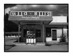 Parawan - Utah 2016 (Andrew Bartram (WarboysSnapper)) Tags: fuji gw690 rangefinder 120film rollfilm ilford ilforphoto silvergelatin print darkroom film analogue parawan utah gasstation usa americana roadtrip believeinfilm fp4 mgfb devere504 6x9