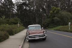 DSCF3854_ (olkinn) Tags: presidio sf san francisco car chevrolet chevy old retro red nature road cali california us usa fuji x100t digital