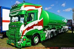 Scania R560 2013 Leif Nielsen Aars Denmark (Trucks and nature) Tags: scania r560 r series 2013 green red tanker trailer truck show leif nielsen denmark lights custom tribals v8 cabover new streamline super aars horn bullbar lgstaket