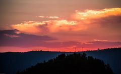 Full Horizontal Flame (janwellmann) Tags: greece clouds sunset nature horizon flames fire