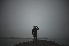 The Mist. (juriskokins) Tags: mist fog misty iceland akuryeri docks fjord fjords deadspace lights bokeh wideangle lowlight lowkey twilight nikon d610 nikonphotography fineart darkart travel wanderlust night adventure urban coast beach northern cold
