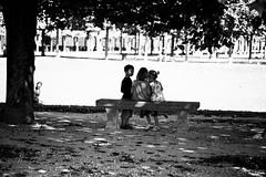 Le complot de l'ombre (LACPIXEL) Tags: enfant nino children child banc bench banco parque parc park chteau castillo castle saintgermainenlaye yvelines france rue street calle complot plot conspiracion outside afuera extrieur noiretblanc blackandwhite blancoynegro nikon nikonfrance d4s fx flickr lacxpiel