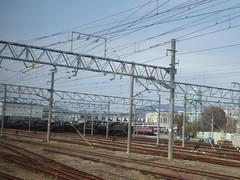 Railway Museum (seikinsou) Tags: japan spring haruka train jr railway kyoto kix kansai airport museum old cable