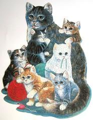 Kitten Cuddle (Ruane Manning) (Leonisha) Tags: puzzle jigsawpuzzle shapedpuzzle formpuzzle cat chat cats katze ktzchen kittens