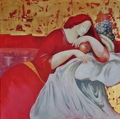 Olga Minardo: Granatapfeltraum (zikade) Tags: olgaminardo bilder gemlde werke gemaltvonolgaminardo gemaltvon
