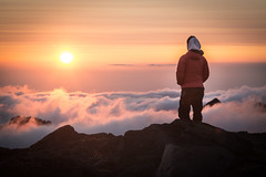 Mountain Solitude (TroyMason) Tags: mountaineers mountrainier mtrainier climb sunset observationrock spraypark mountaineering iceclimb clouds solitude mountain lonely peaceful meditation washington pacificnorthwest hike backpack camp wonderlandtrail