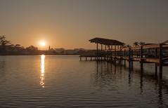 Beautiful day - Sunrise (Marcos Jerlich) Tags: sunrise monday colours brazil spring september contrast reflection sun pier lagoon landscape canon canont5i light lightroom marcosjerlich flickr