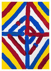 A3 Work 193 (Antonio_Gonzlez) Tags: art painting antonio syntheticenamel antoniogonzlez unique paper a3 originalpiece 297x42cm color contemporaryart contemporarypainting geometric 2016 redyellowandblue