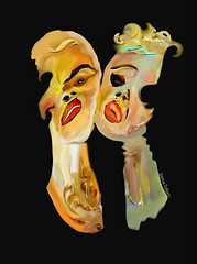 """""""Masquerade Ball"""" (donnacoburn1) Tags: obscure safe public digitalartwork mobile creative drawing applepencil ipadpro apple apps curiosities circus mobileart painting art image original"""
