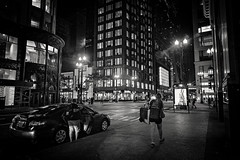 Film Noir VI (Anthonypresley1) Tags: chicago illinois anthony presley anthonypresley night city urban street noir old retro vintage architecture building buildings people light lights