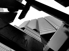 modern perspective 2 (Mr.  Mark) Tags: city urban bw sculpture toronto building deleteme6 art up architecture modern wow photo interesting bravo perfect downtown savedbythedeletemegroup been1of100 stock perspective icon saveme10 500v50f lookatme 100 topf400 2202006 abigfave markboucher