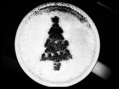 Festive Cappuccino (James Ogley) Tags: christmas blackandwhite coffee festive drink mug cappuccino