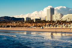 Santa Monica (j.hietter) Tags: ocean santa color beach skyline clouds pier vivid monica oceanfront