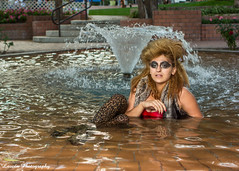 Water Nymph (Laveen Photography (aka cyclist451)) Tags: wild arizona water fountain fashion hair crazy model makeup az center civic scottsdale edgy