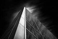 Virtue (StefanB) Tags: longexposure light bw reflection glass monochrome architecture clouds steel santaclara portfolio 2012 1445mm em5 missioncitycenter flvonmirikr