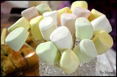 Marshmallow (Norah_Studio) Tags: pink white green colors beautiful yellow nikon candy sweet delicious marshmallow d5100 nikond5100 d5100nikon