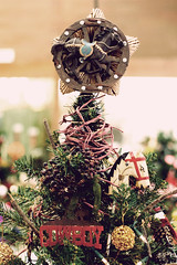 Cowboy Themed Christmas Tree (robot matsuri!) Tags: christmas tree puyallupfair canondigitalrebelxt canonef50mmf18ii