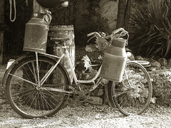 "Bicycle with Milk Churns • <a style=""font-size:0.8em;"" href=""http://www.flickr.com/photos/44019124@N04/8309943641/"" target=""_blank"">View on Flickr</a>"