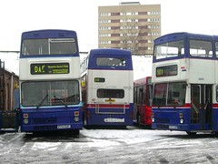 Winter at Miller Street (MCW1987) Tags: travel snow west mk2 midlands metrobus mcw 2751 3083 3074 f83xof f74xof a751wvp