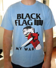 #534A Black Flag - My War Side 2 (Minor Thread) Tags: shirt vintage blackflag reprint side2 mywar backprint sstrecords