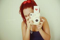 instax mini <3 {158/365~} (x_miinzi_21) Tags: camera red 3 cute love girl project photo nikon heart mini dia days vermelho corao ribbon 365 yasmin projeto dias instax minzi lao sandrini d7000 miinzii
