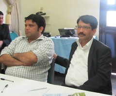 (R-L) Mohammed Indorarama and Rajiv Bhaskar of Indorama team at the workshop