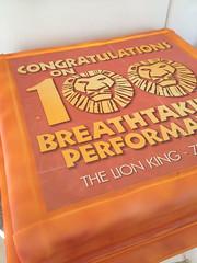Lion King 100 Performances Giant Cake