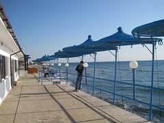 Our last beach visit of 2012? (@CyprusPictures) Tags: sea beach rocks pebbles parasol umbrellas romanruins ancientkourion curiumbeach cypruspictures photosofcyprus thulbornchapmanphotography