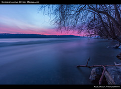 Magenta Banks (ken.krach (kjkmep)) Tags: trees sunrise river maryland susquehanna susquehannastatepark marylandstatepark marylandnature