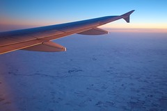 58/365 - Going back home (mcdux) Tags: sunset snow plane aerial 365