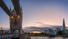 London - Contrasting Architecture (John & Tina Reid) Tags: greatbritain winter sunset london architecture unitedkingdom theriverthames twlight londontowerbridge jonreid londonattractions tinareid nomadicvisioncom