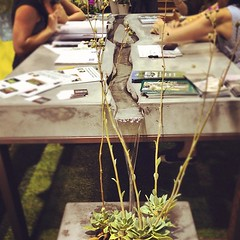 Original outdoor idea! A river runs through the center of this table at @dwellondesign! #dod2012 (Yahoo! Homes) Tags: dod2012 dwellondesign2012