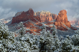 Snowy Sedona Arizona
