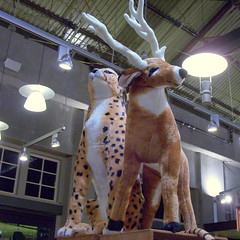 102_4339[] ...and the cheetah shall lie down with the reindeer... (Frabjous Joy) Tags: california oakland wintertime christmastime streetscenes eastbayarea oaklandia californium urbanarium eastbaria theholidayshoppingseason