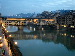 "Our view of the "" Ponte Vecchio "" in Florence - Italy (Flyingpast) Tags: street travel bridge vacation italy holiday tourism architecture river florence europe arch view dusk samsung newyear medieval historic tuscany firenze pontevecchio earlyevening streetlighting riverarno goldsmiths jewellers bellaitalia medievalbridge citybreak vasaricorridor 2013 intellistudio wb2000 tl350 fiorentinehills italyunpacked"