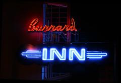Burrard INN (~ Blu ~) Tags: blue night vancouver neon blu dt gvrd bhlm1