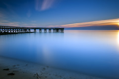it is what it is (dK.i photography) Tags: longexposure morning winter beach water night clouds sunrise dawn pier early maryland clear pasadena chesapeakebay downspark neutraldensity canon5dmkii singhrayrgnd ef1740f40lusm leebigstopper promotecontrolpctrl1 3min45sec