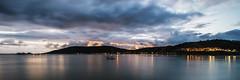 Avila Beach (lalush.com) Tags: ocean california longexposure sunset reflection beach water clouds pier solitude illumination calm nd coastline centralcoast avilabeach