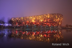 Beijing - National Stadium (Rolandito.) Tags: china birds de nest stadium beijing national prc herzog  peking chine    meuron          stadiun      volksrepublik