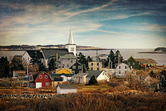 Prospect (sminky_pinky100 (In and Out)) Tags: travel houses winter sea canada texture tourism church landscape islands community novascotia village scenic coastal prospect overview omot cans2s exhibitionoftalent masterclassexhibition masterclasselite