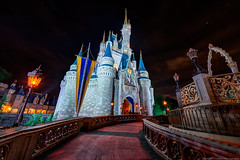 The Path to Cinderella's Castle (TheTimeTheSpace) Tags: longexposure castle night stars nikon disney disneyworld cinderella wdw waltdisneyworld hdr magickingdom waltdisney cinderellascastle matthewcooper ultrawideangle photomatix nikond800 thetimethespace