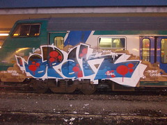 from the crave to the grave (en-ri) Tags: grave train writing torino graffiti blu rosso sdk crave wufc pallini 2013 opak