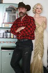Eye Candy ! LOL (Cowboy Tommy) Tags: bear portrait hairy hot sexy marilyn beard cowboy manly carhartt rugged bluecollar lanky