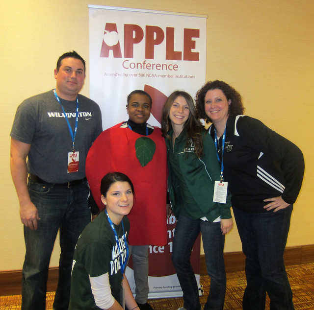 Wilmington Apple Team (from left): Nick Papanicolas, Althea Davidson, Amanda Pupillo, Erin Harvey, Brittany Biddle (kneeling)