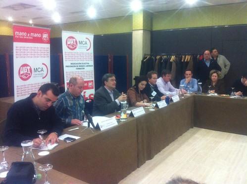 Reunión Secciones Sindicales MCA-UGT en Renault