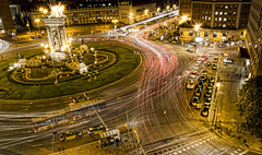 Barcelona at night.- (ancama_99(toni)) Tags: barcelona night light lights nikon nikond7000 18105 plazaespaña barcellona barcelone santantoni catalonia catalunya cataluña españa spain 10faves 10favs blinkagain 25favs 25faves ltytr1 50favs 50faves 2013 bcn city d7000 35faves 35favs ltytr2 catalogne ltytr3 1000views vacation vacaciones highway carretera 5000views