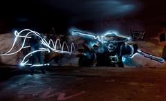 Yelow Panda vs Ninja Resh, light by Ubere (Ubere) Tags: lightpainting graffiti graffitilightpainting superherolightpainting